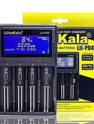 cheap -LiitoKala Lii-PD4 battery Charger for 18650 26650 21700 lithium NiMH battery 4-slot lithium battery charger with car charger