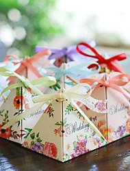 cheap -Wedding Garden Theme Favor Boxes Card Paper Printing 12