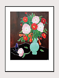 cheap -Framed Art Print Abstract Hand-Painted Still Life Flower Pot Landscape Wall Art Modern Home Decoration Ready To Hang