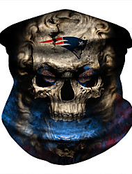 cheap -Ice Silk Neck Gaiter Neck Tube Balaclava Bandana Mask Men's Women's Unisex Headwear Skull Fashion UV Sun Protection Dust Proof Cooling for Fitness Running Cycling Autumn / Fall Spring Summer Red