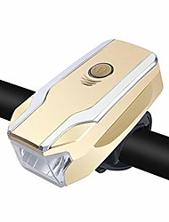 cheap -bicycle headlight,led rechargeable bycicle horn front light headlamp headlight bike lamp torch (gold)