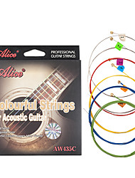 cheap -NAOMI Alice Acoustic Guitar Strings AW435C Colorful-Coated Steel strings Guitar accessories