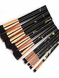 cheap -hwangli makeup brush set 10pcs foundation marbling blush eyeshadow cosmetic tool black
