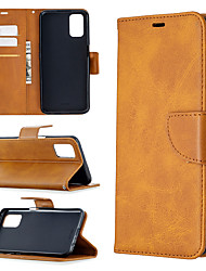 cheap -Case For OPPO Find X2 Lite A5 2020 A9 2020 A72 A52 A92 A31 2020  Card Holder Flip Full Body Cases Solid Colored PU Leather