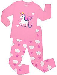 cheap -girls christmas pajamas children seahorse cartoon sleepwear kids mermaid pjs clothes size 8