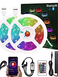 cheap -10m Flexible LED Light Strips Flexible Tiktok Lights 300 LEDs SMD5050 Multi Color Decorative TV Background 12 V