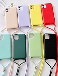 cheap -Case For iPhone 6 6s 7 8 6plus 6splus 7plus 8plus X XR XS XSMax SE(2020) iPhone 11 11Pro 11ProMax Shockproof Back Cover Solid Colored Silicone
