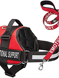 """cheap -service dog vest harness with emotional support patches and matching leash, emotional support animal vest and matching leash set (xxs, fits girth 14.5-18"""", black)"""