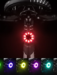 cheap -LED Bike Light Waterproof Rechargeable Bike Light Set Tail Light LED Bicycle Cycling Waterproof USB Charging Output Dust Proof Quick Release Li-polymer 60 lm Built-in Li-Battery Powered Multi Color