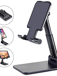 cheap -Phone Support For iPhone iPad iPhone 12 SE 11 11 Pro/XS Max Phone Stand Holder Adjustable Metal Desktop Tablet Holder Upgraded Height Increasing Desk Phone Holder for Cell Phone