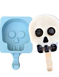 cheap -Ice Tools Full Body Silicone Cute Christmas Drinkware Creative Cartoon Homemade Ice Cream Mold With Stick