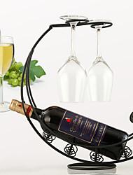 cheap -Pirate Ship Metal Retro Wine Rack Hanging Red Wine Glass Holder Bar Goblet Stand Holder for Single Wine Bottle