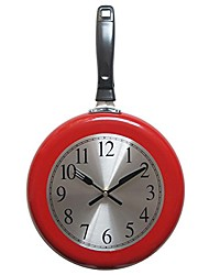 cheap -Wall Clock 10inch Metal Frying Pan Kitchen Wall Clock Home Decor Kitchen Themed Unique Wall Clock with a Screwdriver