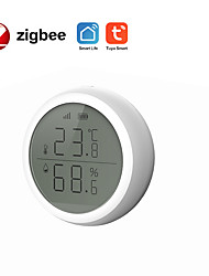 cheap -TUYA ZigBee intelligent temperature and humidity sensor with screen smart home