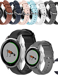 cheap -Soft Leather Watch Band for Garmin Vivoactive 4 / Venu / Vivoactive 3 / Approach S40 / Forerunner 245 Music / 645 Music / Vivomove HR / Fenix Chronos Replaceable Bracelet Wrist Strap Wristband