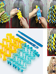 cheap -DIY Magic Hair Curler Portable 18PCS Hairstyle Roller Sticks Durable Beauty Makeup Curling Hair Styling Tools