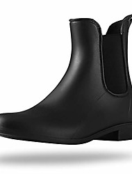 cheap -rain boots for women waterproof ankle rain shoes for ladies chelsea boots black matte size 6
