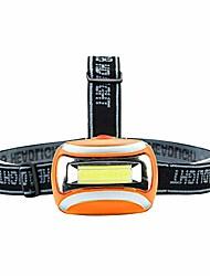 cheap -2018 new cob outdoor led head lamp torch 3w headlight 600 lumens bright adjustable angle (orange)