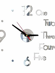 cheap -frameless large 3d diy wall clock, modern design creative mute wall clock for home living room office decoration gifts (silver)