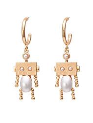 cheap -Women's Drop Earrings Earrings Dangle Earrings 3D Fashion Holiday Punk Baroque Gothic Fashion Imitation Pearl Earrings Jewelry Gold For Gift Date Street Beach Festival