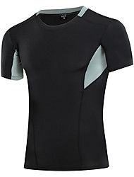 cheap -Men's Women's Compression Shirt Short Sleeve Compression Base Layer T Shirt Top Plus Size Lightweight Breathable Quick Dry Soft Sweat-wicking White Black Blue Lycra Summer Road Bike Fitness Mountain