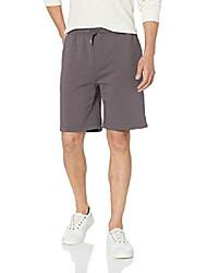 cheap -amazon brand - men& #39;s fleece short, grey ridge, x-small