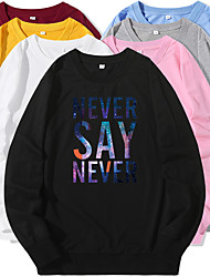 cheap -Men's Sweatshirt Pullover Artistic Style Crew Neck Letter Printed Sport Athleisure Sweatshirt Top Long Sleeve Warm Soft Oversized Comfortable Everyday Use Causal Exercising General Use / Winter
