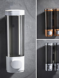 cheap -Bathroom Liquid Soap Dispenser Wall Mounted For Kitchen and Hotel Plastic and Stainless Steel 500ml Shower Gel Dispenser 1PC