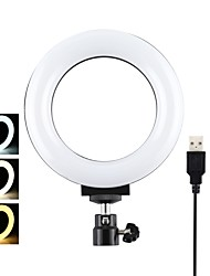 cheap -PULUZ PU377 4.7 inch USB 3 Modes Dimmable LED Ring Light for Youtube Tik Tok Live Streaming Broadcast Vlogging Selfie with 16.5cm Without Tripod