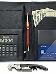"""povoljno -poslužiteljska knjiga za organizatore konobara - kalkulator uključen - 5 """"x 9"""" osoblje restorana konobar držač novca i poslužitelj novčanik - s džepom novca na zatvaraču, otvaračem za vino& # 40;"""