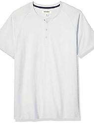 cheap -amazon brand - men& #39;s short-sleeve sueded jersey henley, light grey small