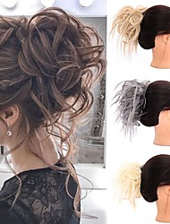 cheap -Human Hair Lace Wig Casual / Daily Hair Bun Adorable / New Arrival / Fashion Synthetic Hair Hair Piece Hair Extension Casual / Daily Natural Black #1B / Medium Brown / Golden Brown#12