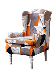 cheap -Wingback Chair Cover Classic Flocking Polyester Slipcovers