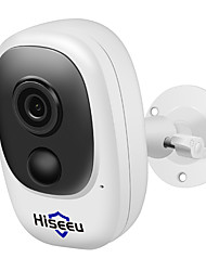 cheap -Hiseeu 100% Wire-Free Rechargeable Battery CCTV Wifi IP Outdoor IP65 Weatherproof Home Security Cameras PIR Motion Alarm 15 mp IP cameras Indoor Support