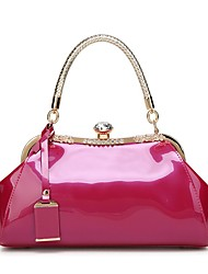cheap -Women's Bags PU Leather Satchel Top Handle Bag Chain Handbags Holiday Date Wine White Black Blue