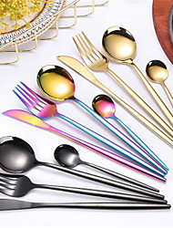cheap -4Pcs/set Cutlery Set Stainless Steel Utensils Service Set for 4 Mirror Finish