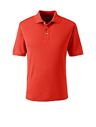cheap -cs mens short sleeve solid active polo zesty orange tall x-large