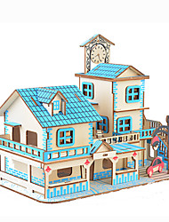cheap -3D Puzzle Jigsaw Puzzle Model Building Kit Famous buildings House DIY Hard Card Paper 90 pcs Classic Anime Cartoon Kid's Unisex Toy Gift
