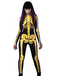 cheap -Women's Punk & Gothic Yellow Jumpsuit Abstract Print