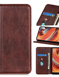 cheap -Case For OPPO AX5 A5 A7 AX5S K1 Reno A Reno 10X Zoom Reno 5G Reno Reno Z Reno 2 Reno 2Z Reno 2F Flip Full Body Cases Solid Colored PU Leather