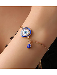 cheap -Chain Bracelet Classic Eyes Trendy Fashion Alloy Bracelet Jewelry Blue / Green For Anniversary Party Evening Date Birthday Festival