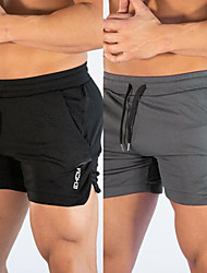 cheap -Men's Running Shorts Athletic Shorts Bottoms Split Drawstring with Side Pocket Winter Fitness Gym Workout Running Quick Dry Soft Sweat wicking Sport Solid Colored White Black Dark Gray Khaki Royal