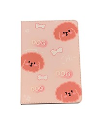 cheap -Case For Apple iPad  air1 air2 pro 9.7inch 2017 2018 with Stand Flip Full Body Cases PU Leather TPU Protective Stand Cover Pattern bear cute rabbit lovely word phrase cat puppy dog