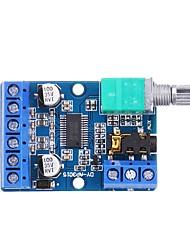 cheap -DY-AP3015 DC 8-24V 30W x 2 Classe D Digital Dual Channel Placa Amplificador Estereo de Alta Potencia com Volume Ajustavel Potenciometro