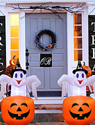 cheap -Halloween Party Toys Halloween Inflatables Ghost Pumpkin LED Lights with Tethers and Stakes Polyester Kid's Adults Trick or Treat Halloween Party Favors Supplies