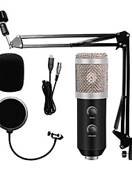 cheap -Usb Computer Microphone HD20 Metal Condenser Mikrofon Kit Real Time Monitoring For Streaming Broadcast And Youtube Videos