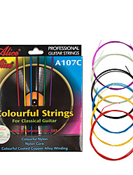 cheap -NAOMI Acoustic Guitar Strings Rainbow Colorful Guitar Strings E-A for Acoustic Folk Guitar Classic Guitar Multi Color A107-C