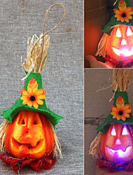 cheap -Halloween Party Toys LED Lighting 2 pcs Pumpkin Halloween Foam Kid's Adults Trick or Treat Halloween Party Favors Supplies