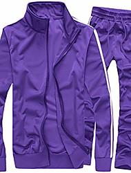 billige -men& # 39; s aktive antrekk med glidelås med varm glidelås, sportssats, uformell svettedress lilla xl