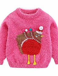 cheap -cute girls sweater christmas turkey hot pink size 7-8
